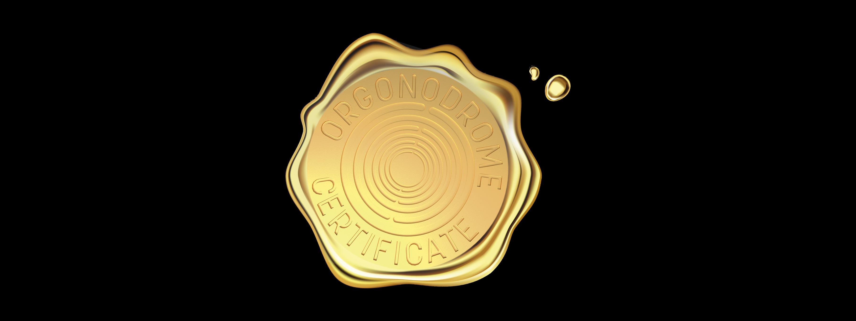 GOLD CERTIFICATE ORGONODROME 2020 - 2008